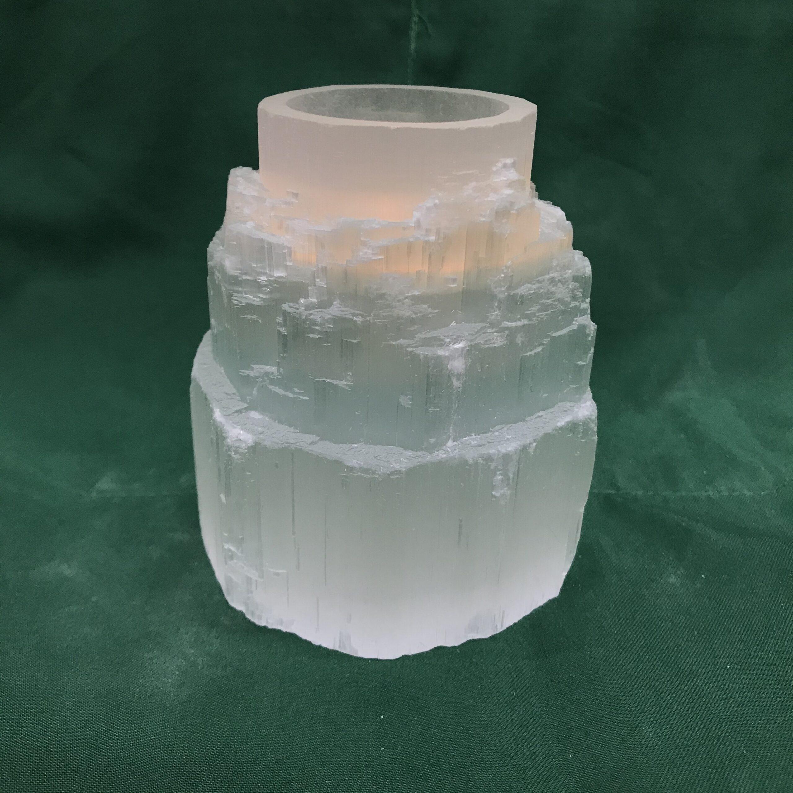 seleniet ijsberg waxinelichthouder