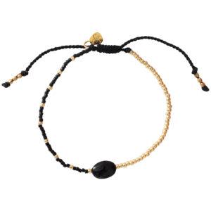 ruby black onyx gold bracelet